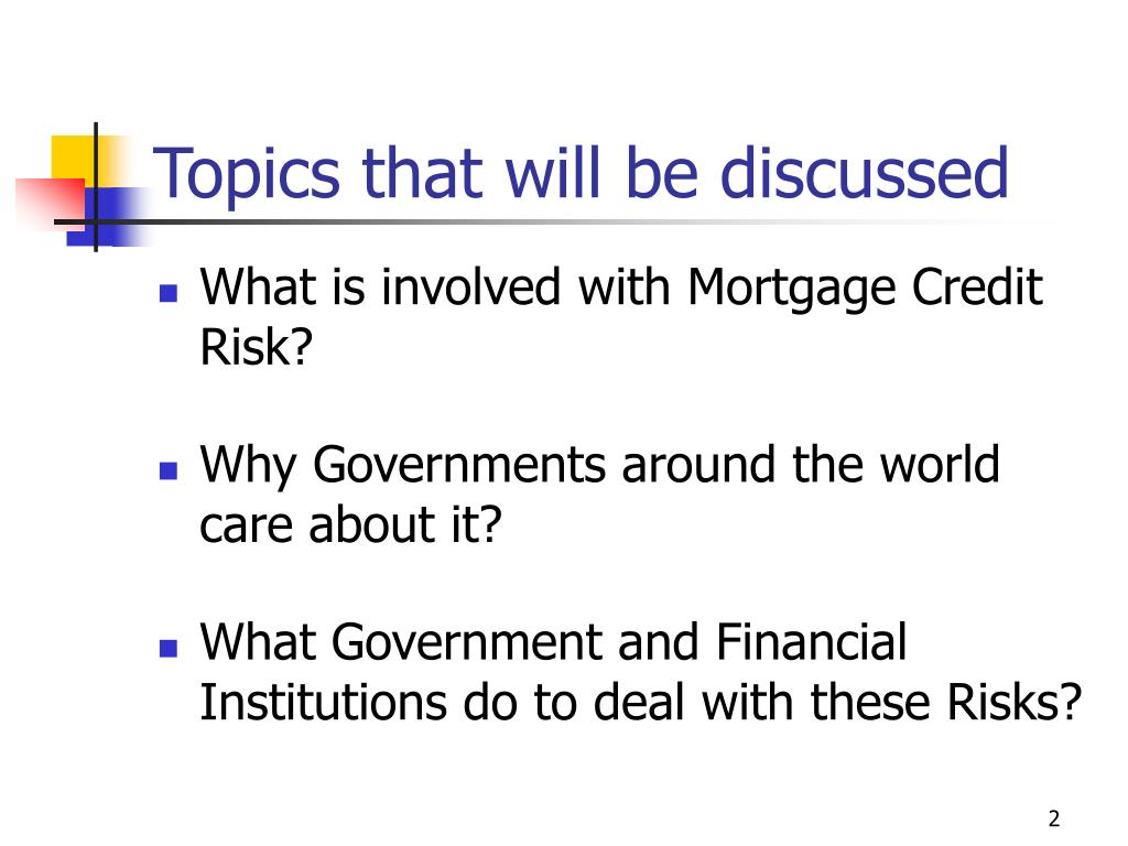 Topics that will be discussed