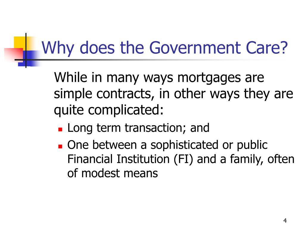 Why does the Government Care?