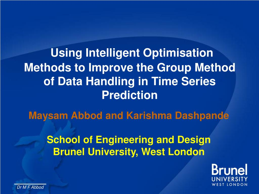 Using Intelligent Optimisation Methods to Improve the Group Method of Data Handling in Time Series Prediction