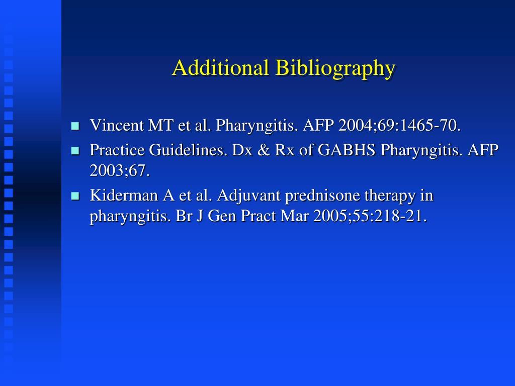 Additional Bibliography