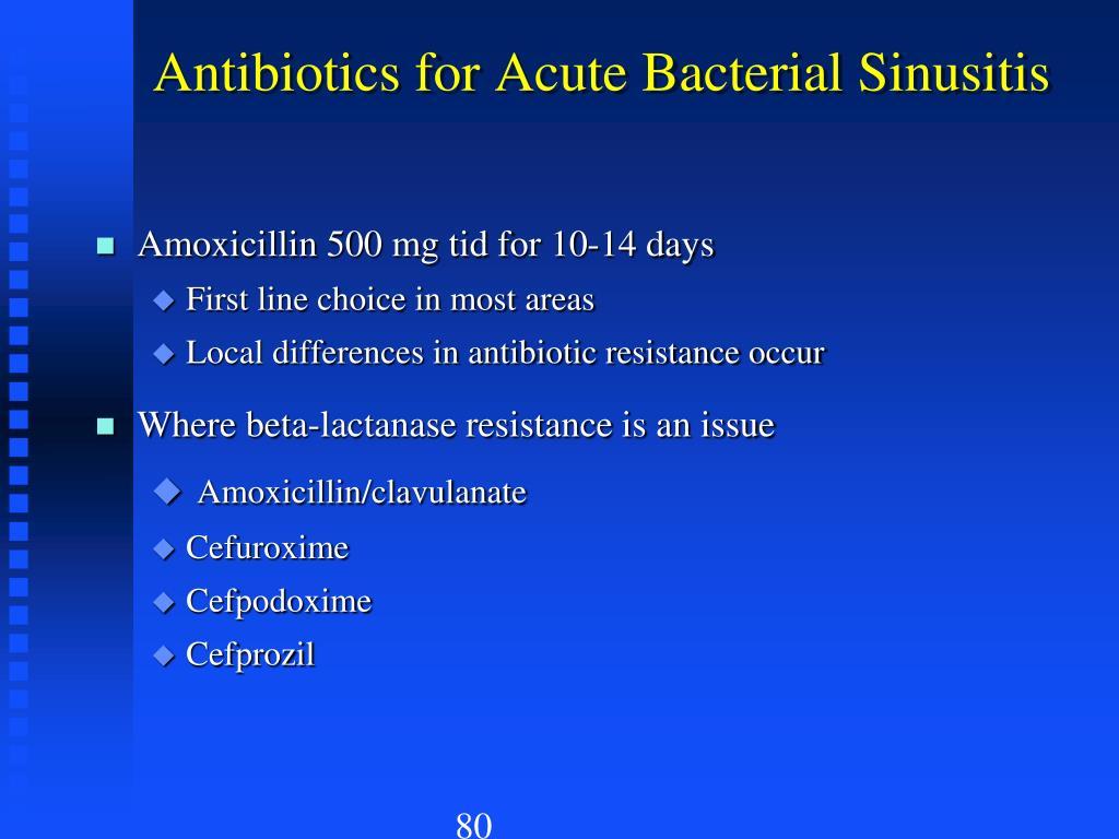 Antibiotics for Acute Bacterial Sinusitis