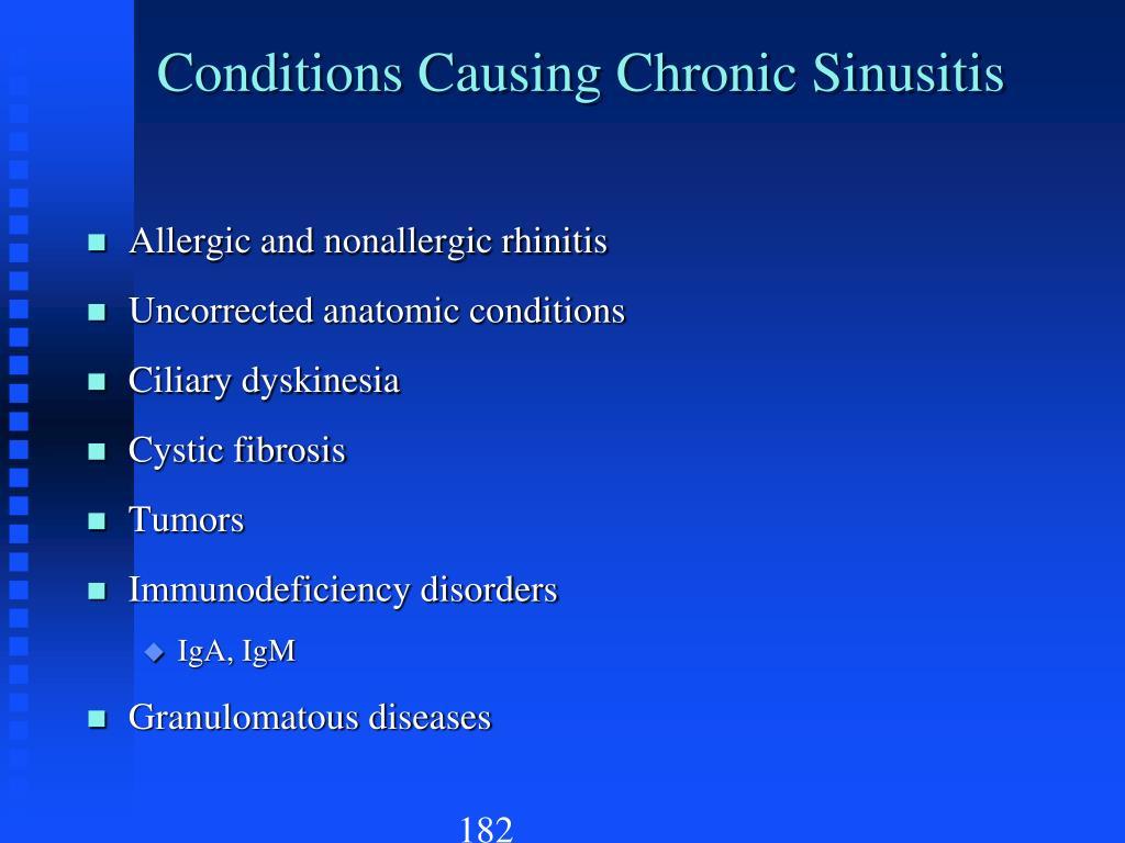Conditions Causing Chronic Sinusitis