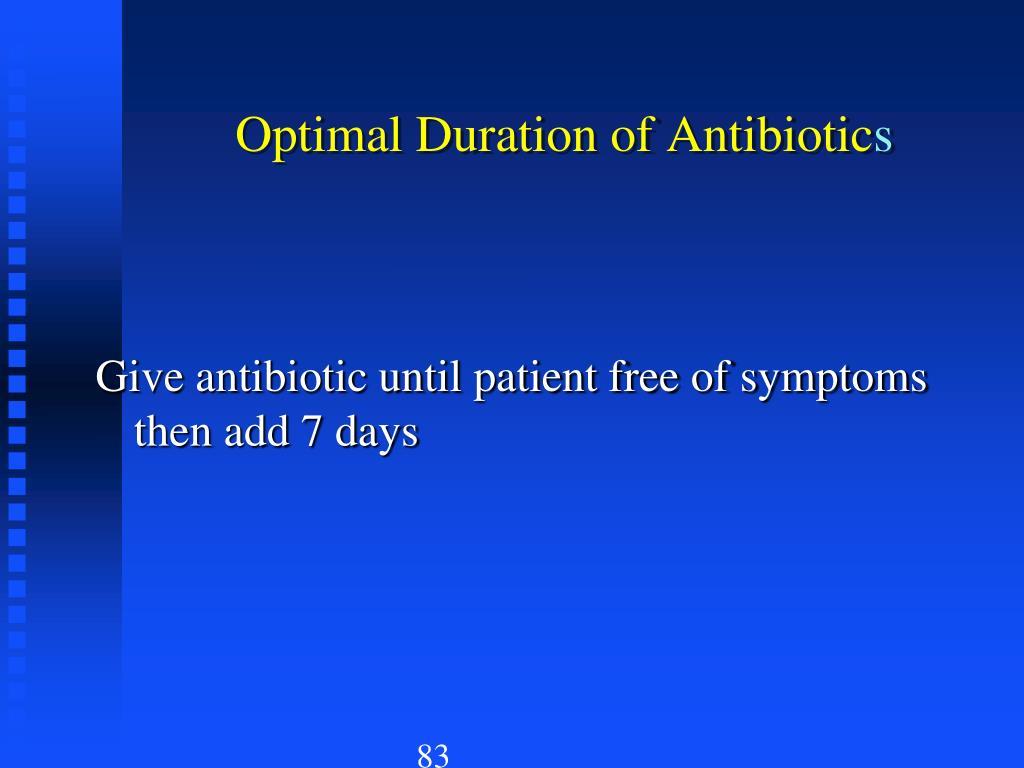 Optimal Duration of Antibiotic
