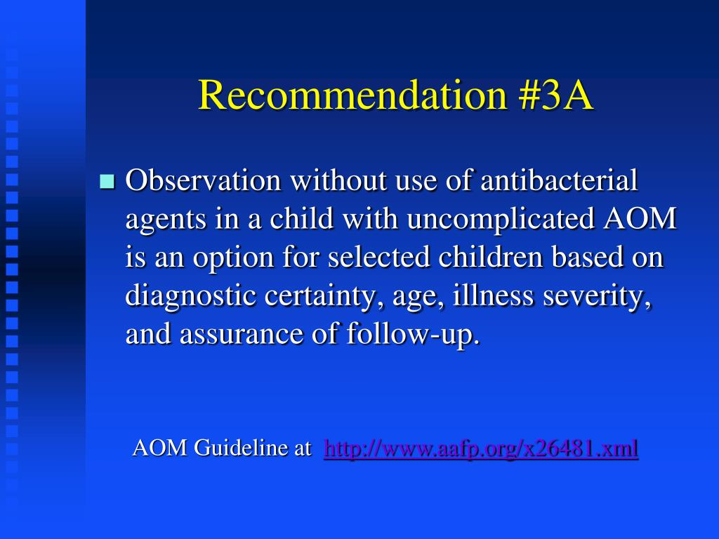Recommendation #3A