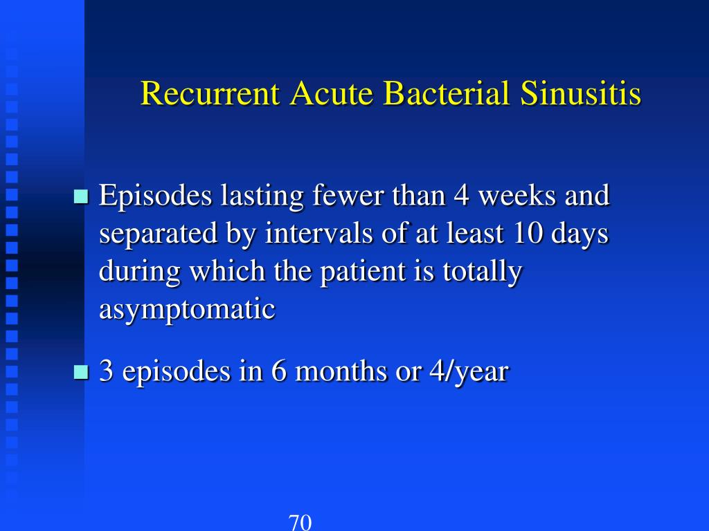 Recurrent Acute Bacterial Sinusitis