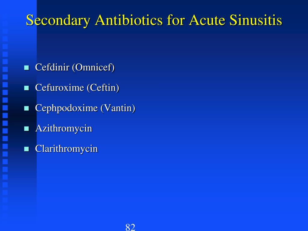 Secondary Antibiotics for Acute Sinusitis