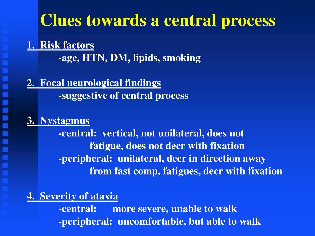 Clues towards a central process