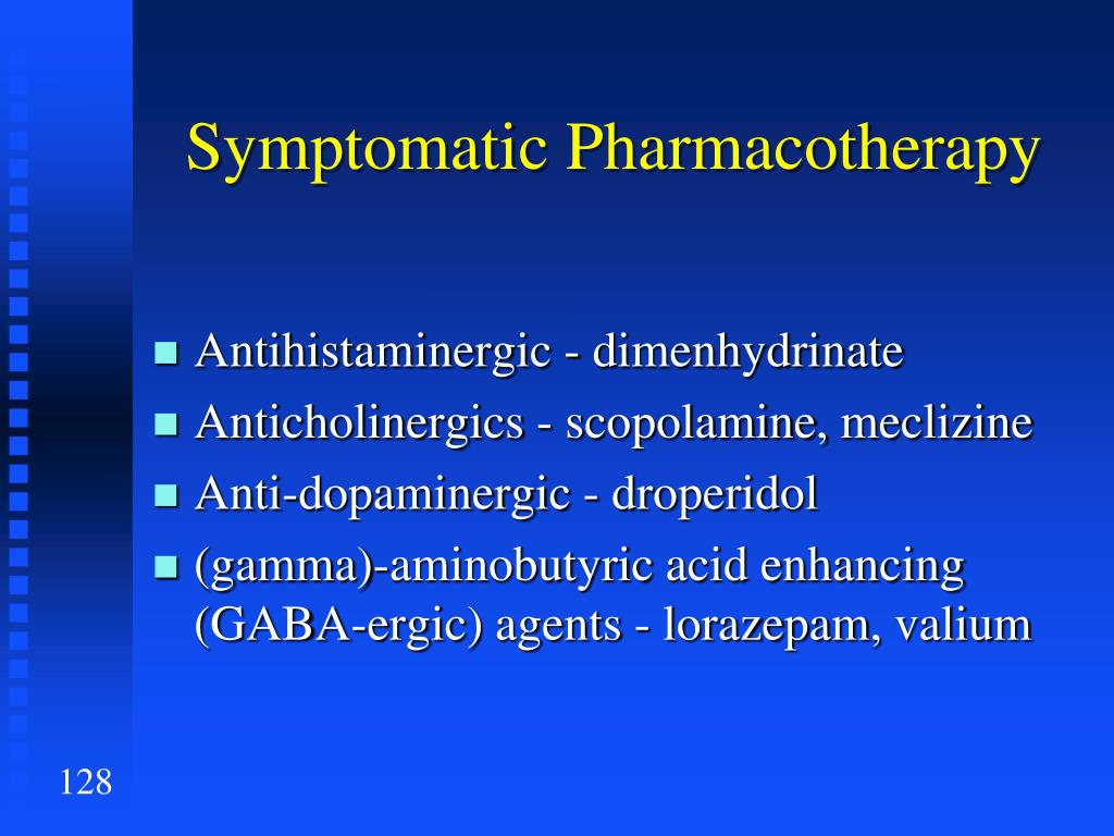 Symptomatic Pharmacotherapy