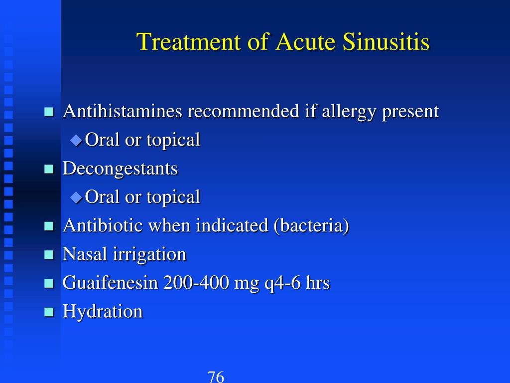 Treatment of Acute Sinusitis