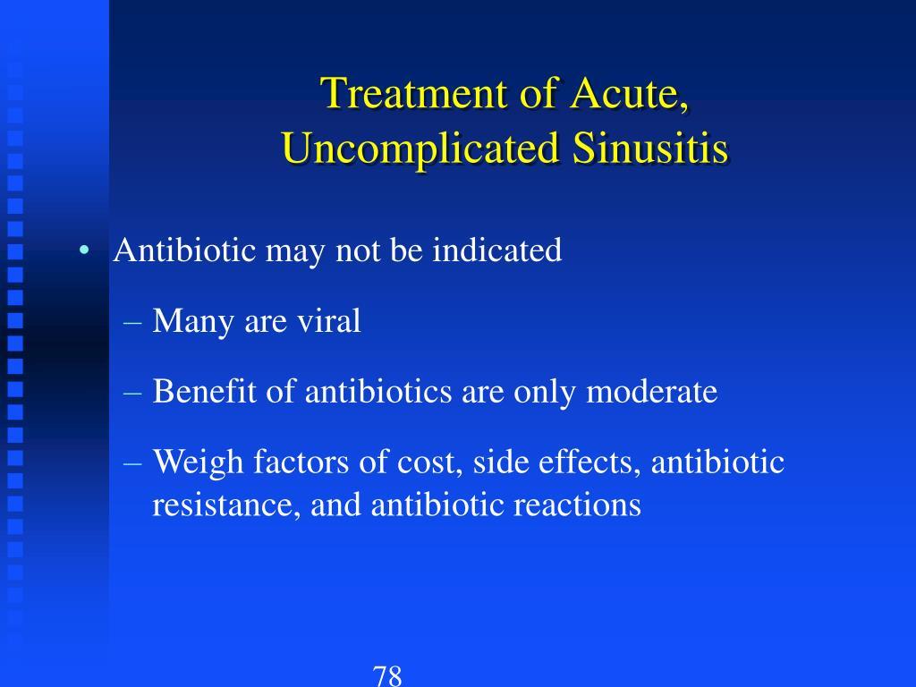 Treatment of Acute,