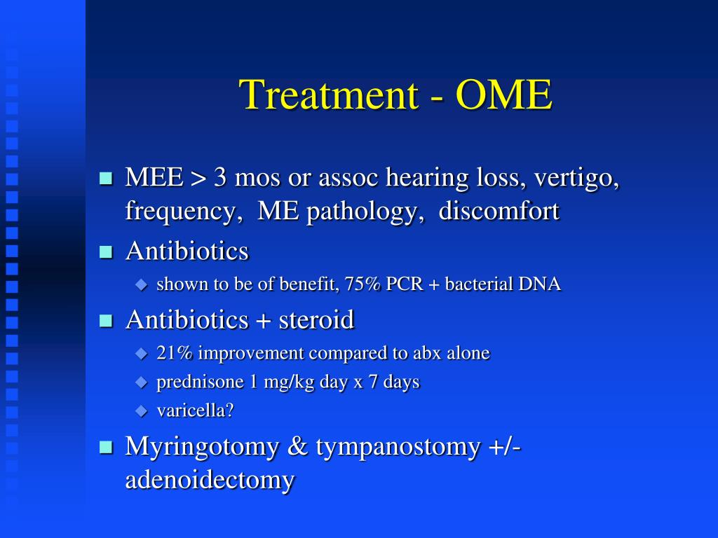 Treatment - OME