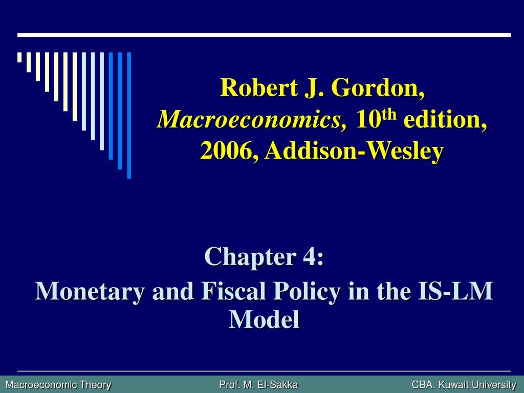 robert j gordon macroeconomics 10 th edition 2006 addison wesley