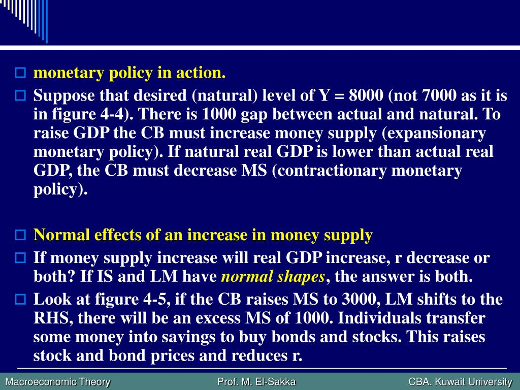 monetary policy in action.