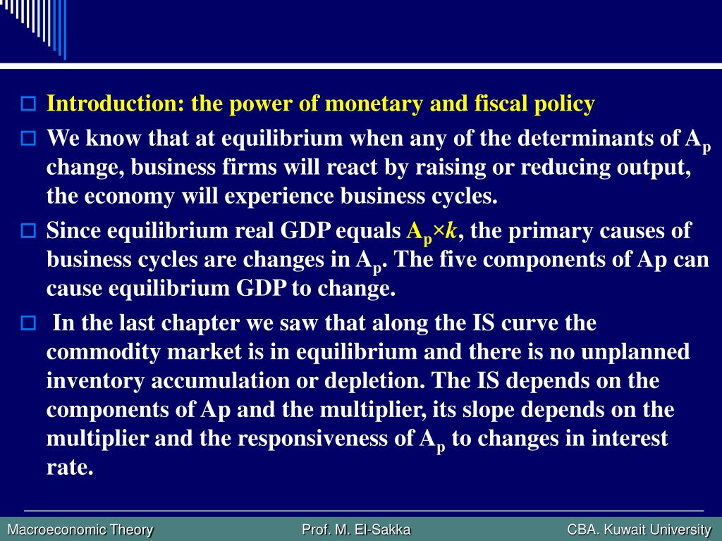 Introduction: the power of monetary and fiscal policy