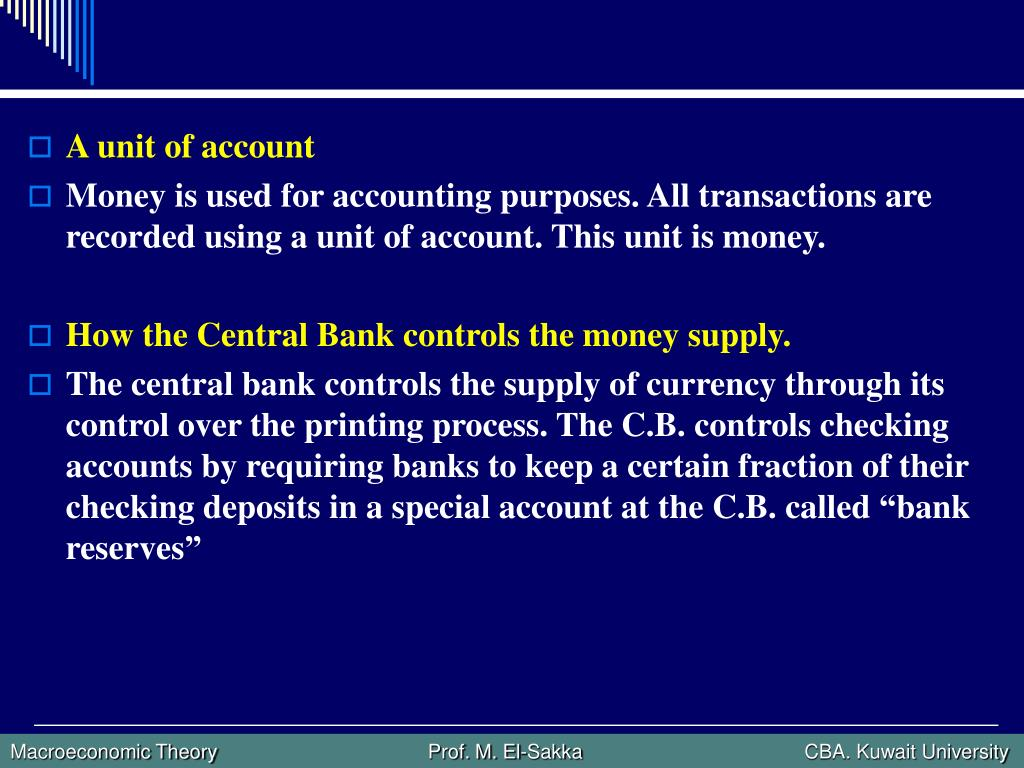 A unit of account