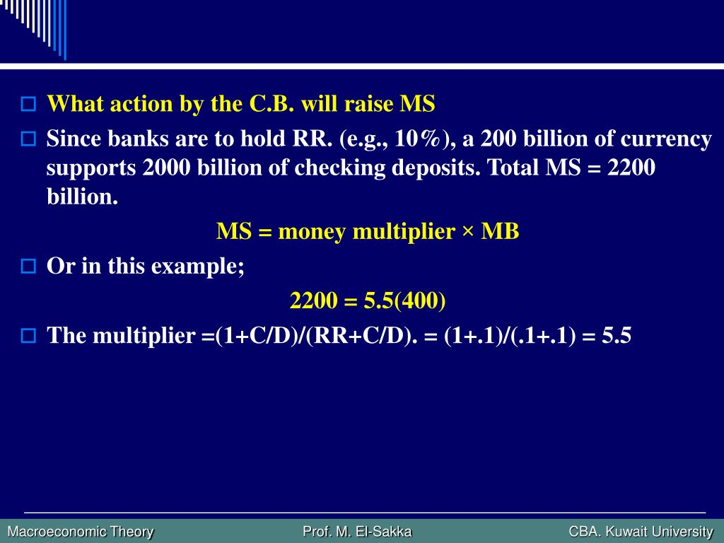 What action by the C.B. will raise MS