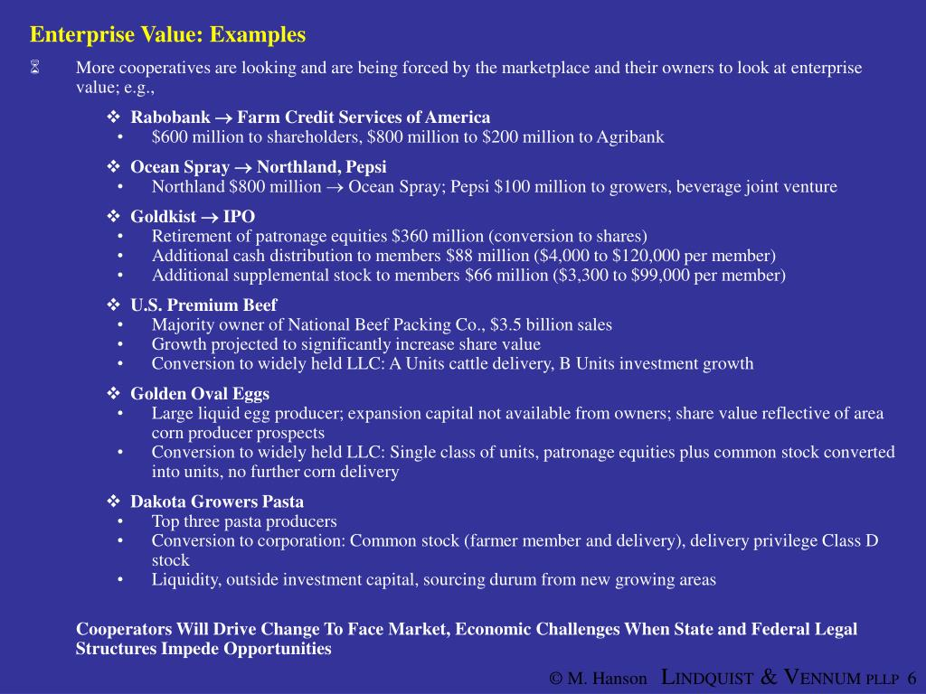 Enterprise Value: Examples
