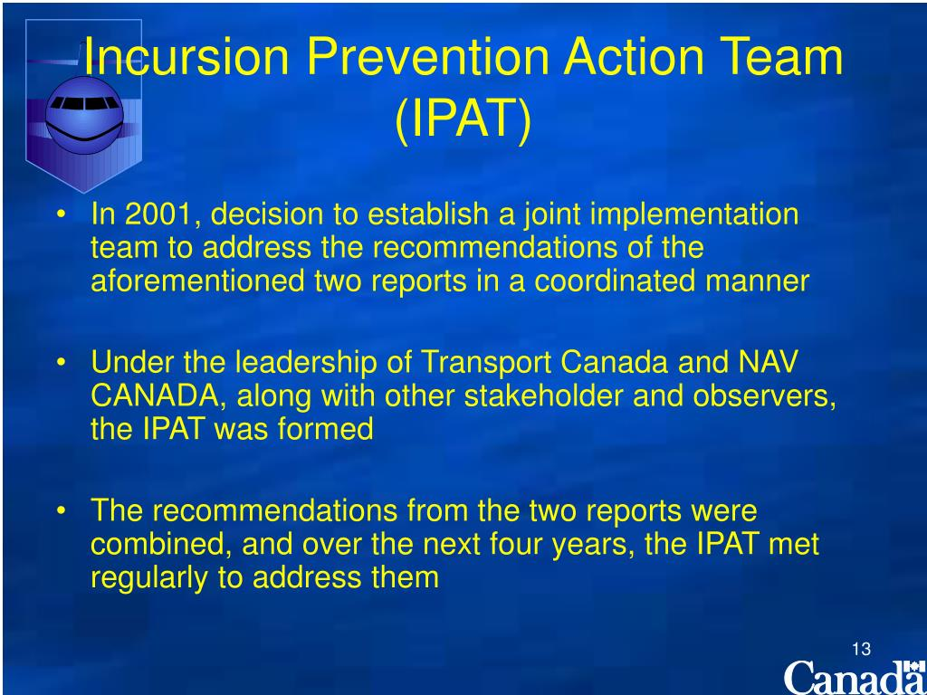 Incursion Prevention Action Team