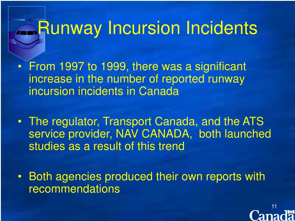 Runway Incursion Incidents