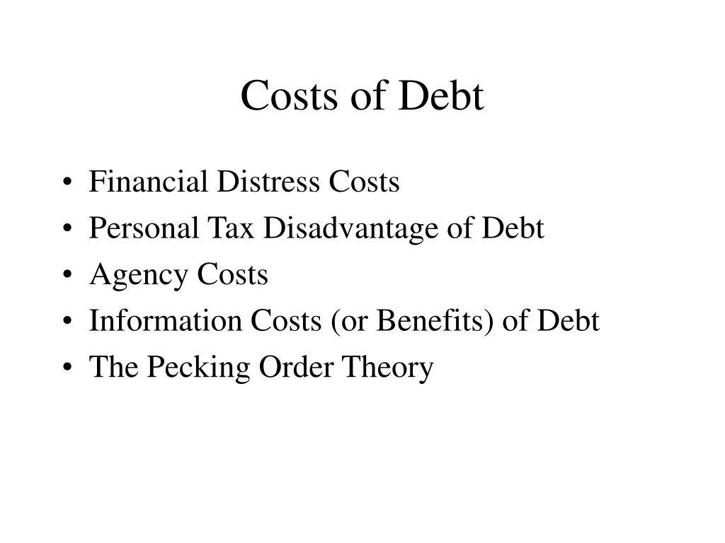Costs of Debt
