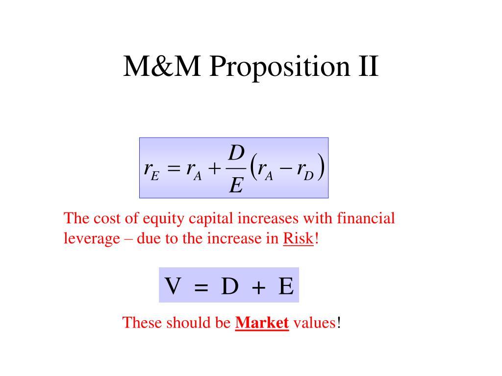 M&M Proposition II