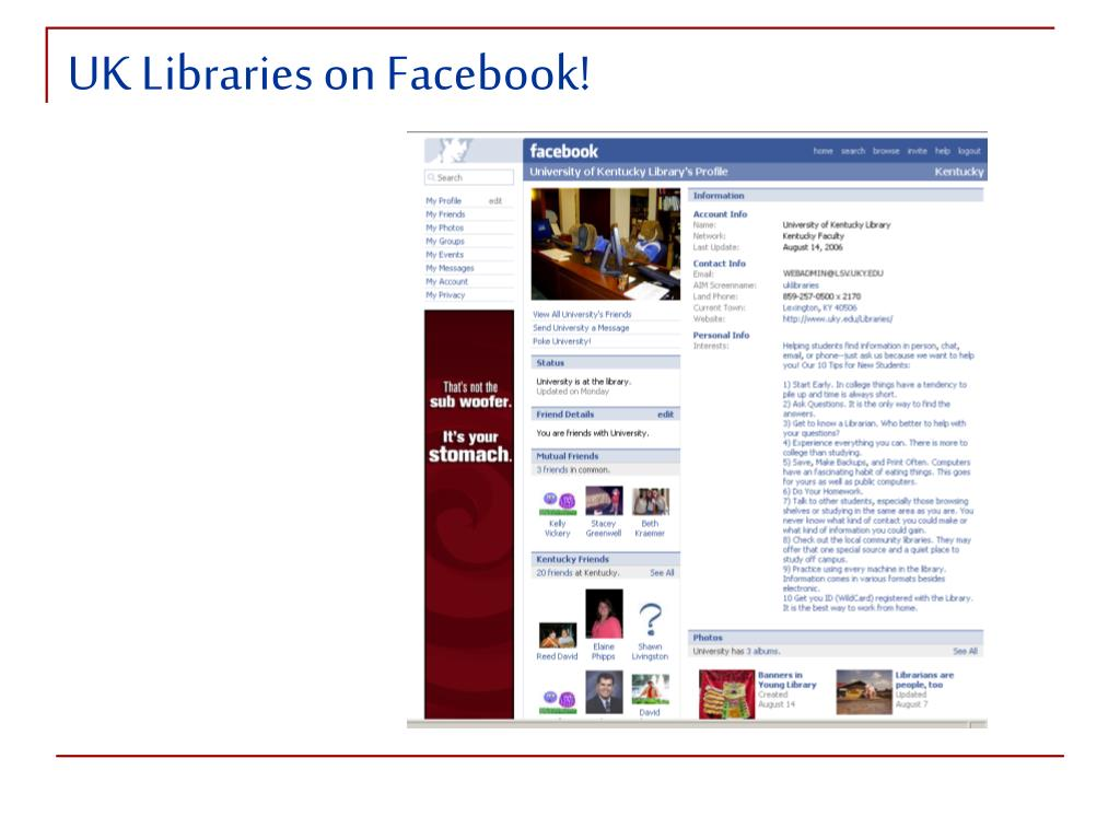 UK Libraries on Facebook!