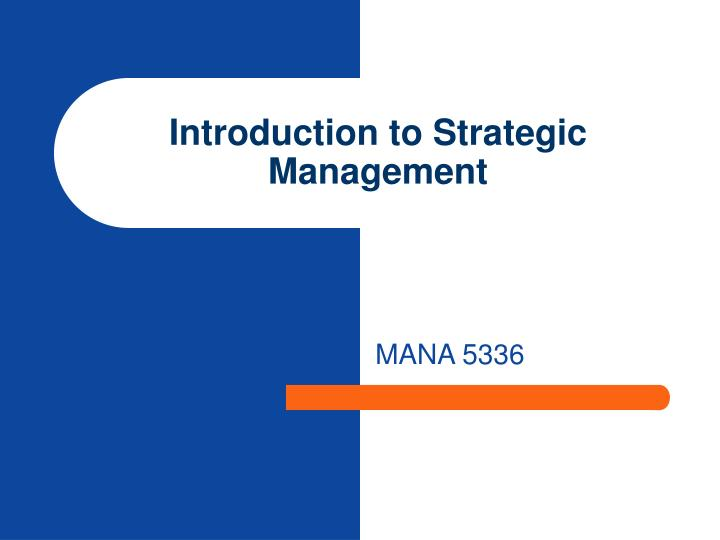 Introduction to strategic management l.jpg