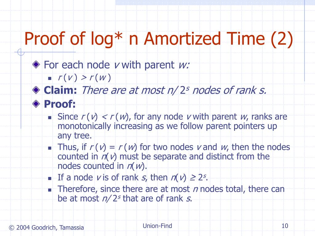 Proof of log* n Amortized Time (2)