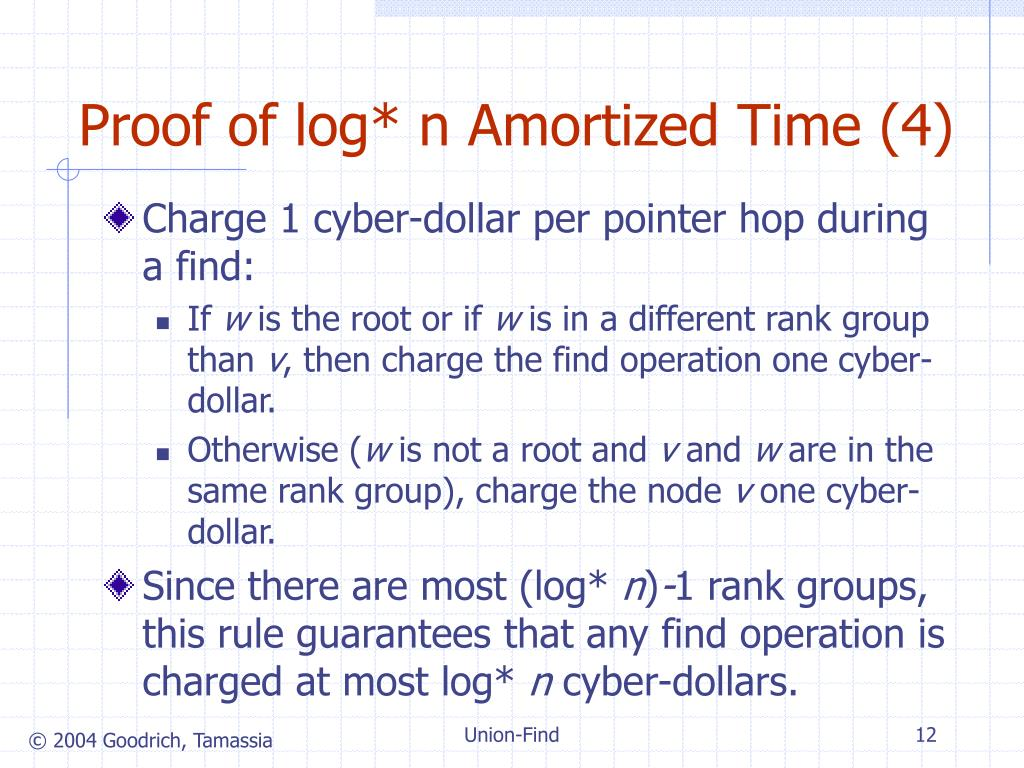 Proof of log* n Amortized Time (4)