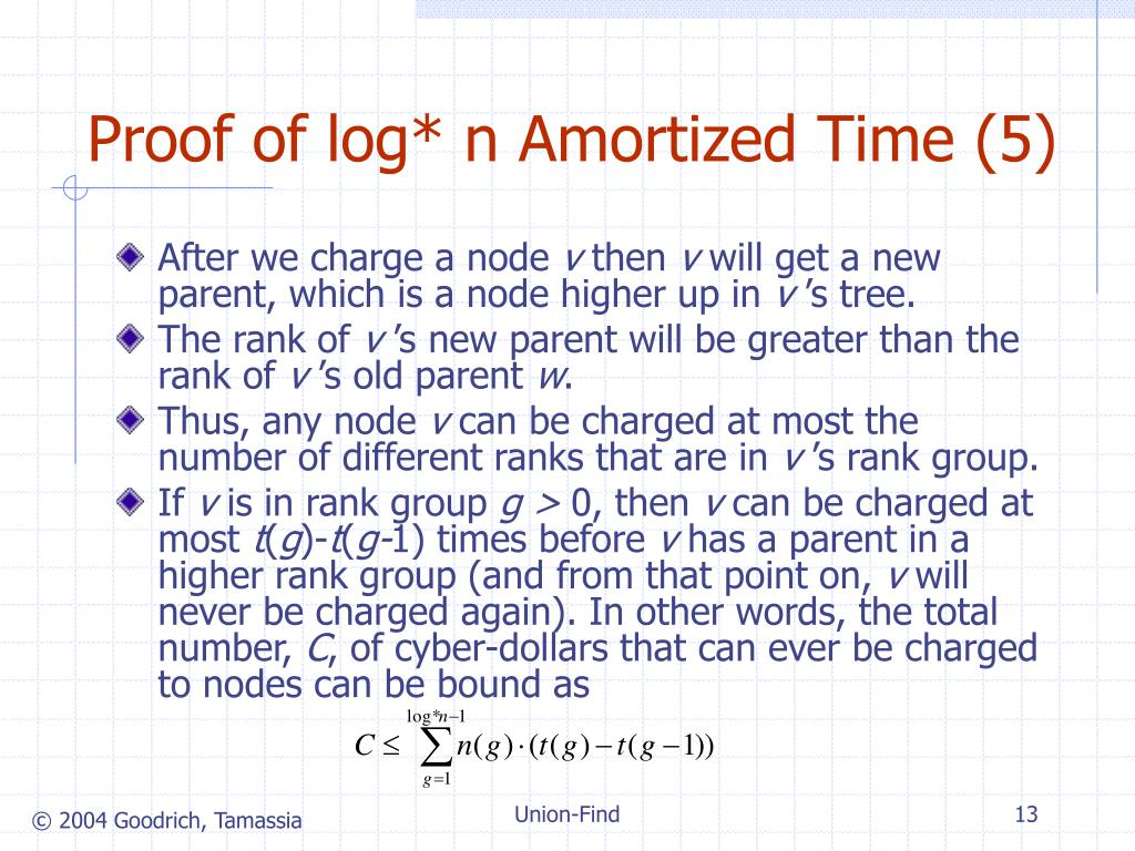 Proof of log* n Amortized Time (5)