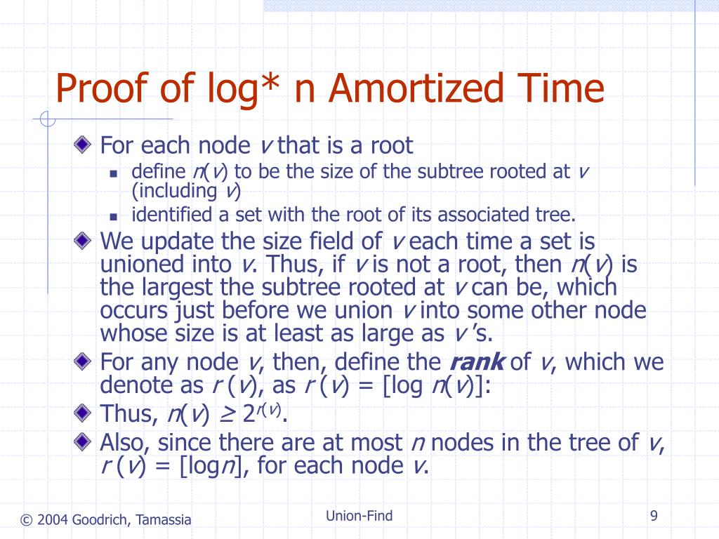 Proof of log* n Amortized Time