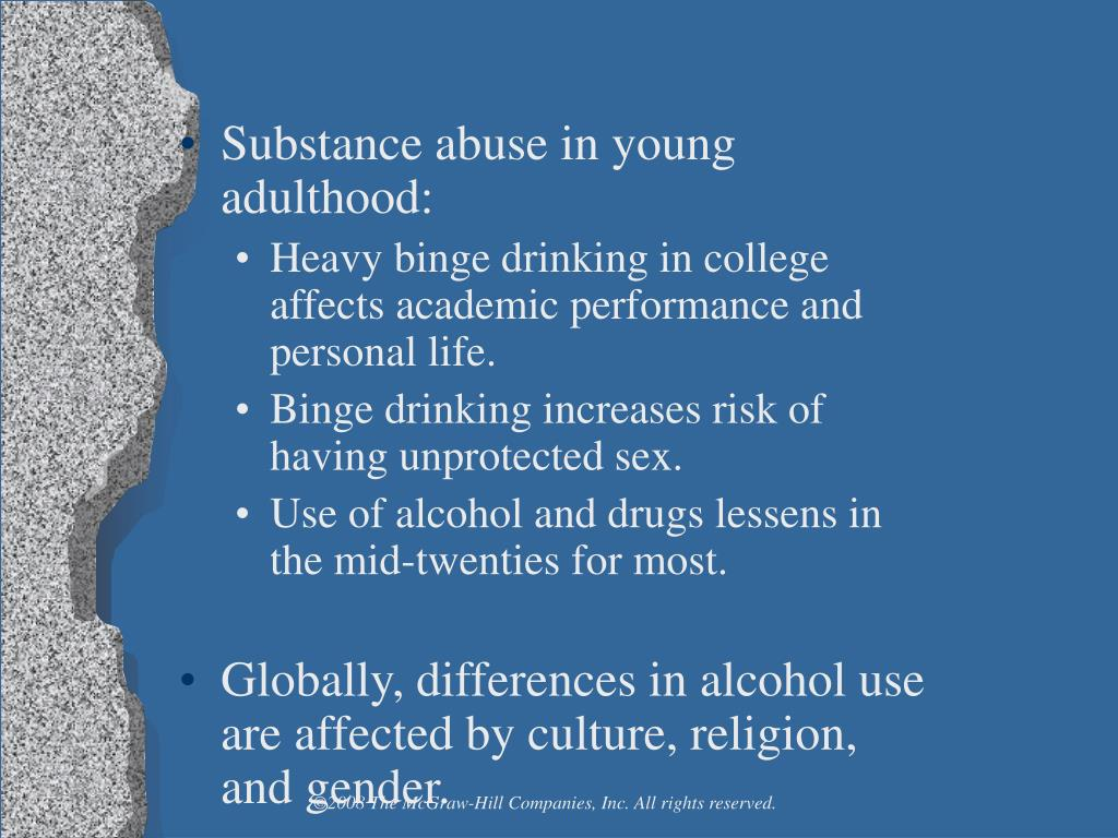 Substance abuse in young adulthood: