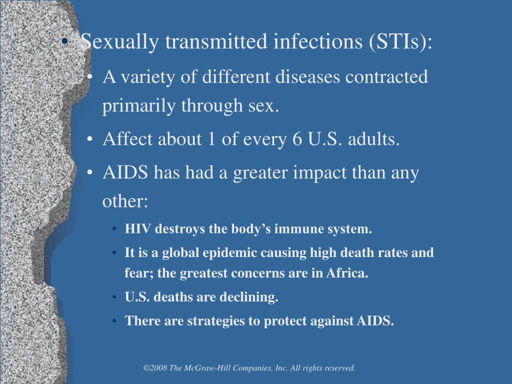 Sexually transmitted infections (STIs):