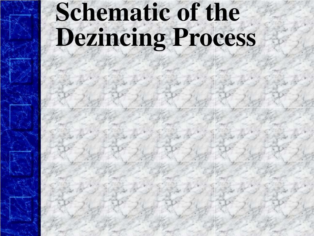 Schematic of the Dezincing Process