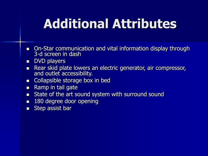 Additional Attributes