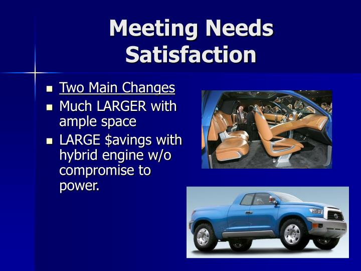 Meeting Needs Satisfaction