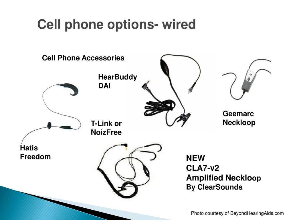 Cell phone options- wired
