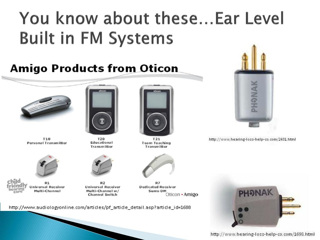 You know about these…Ear Level Built in FM Systems