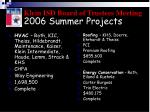 2006 summer projects