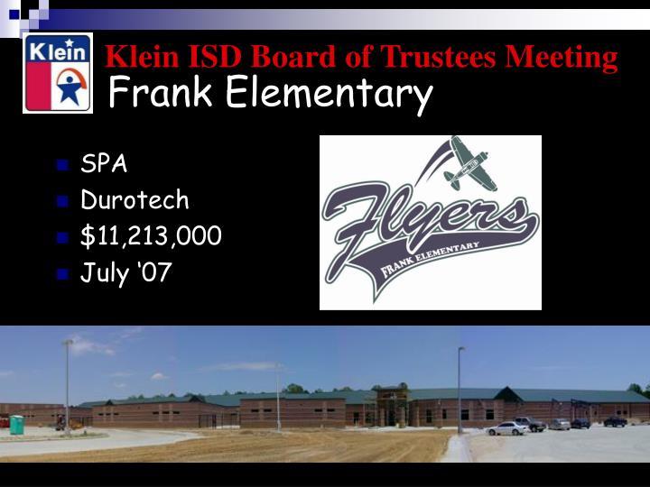 Frank Elementary