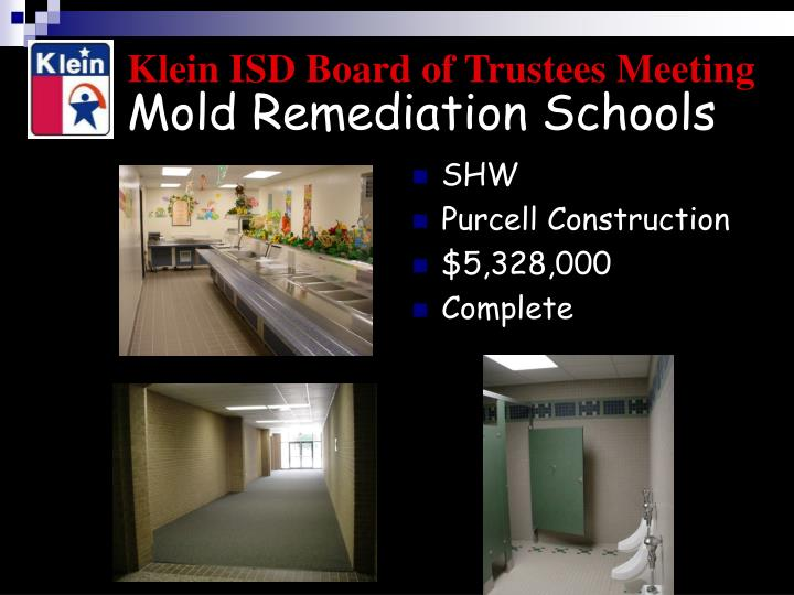 Mold Remediation Schools