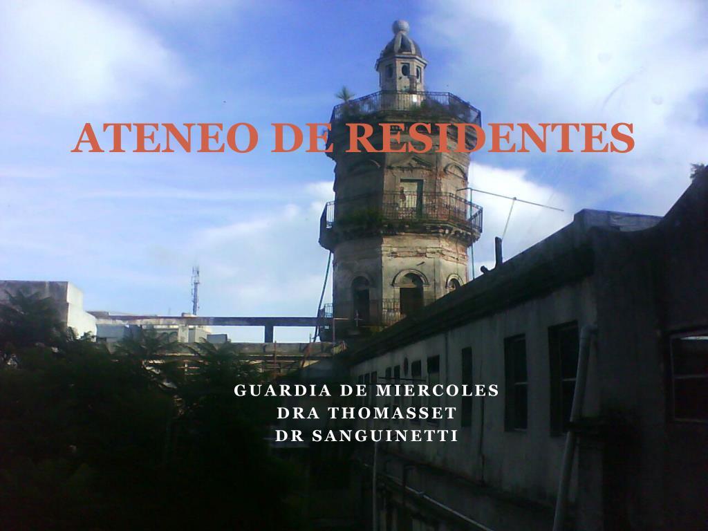 ATENEO DE RESIDENTES