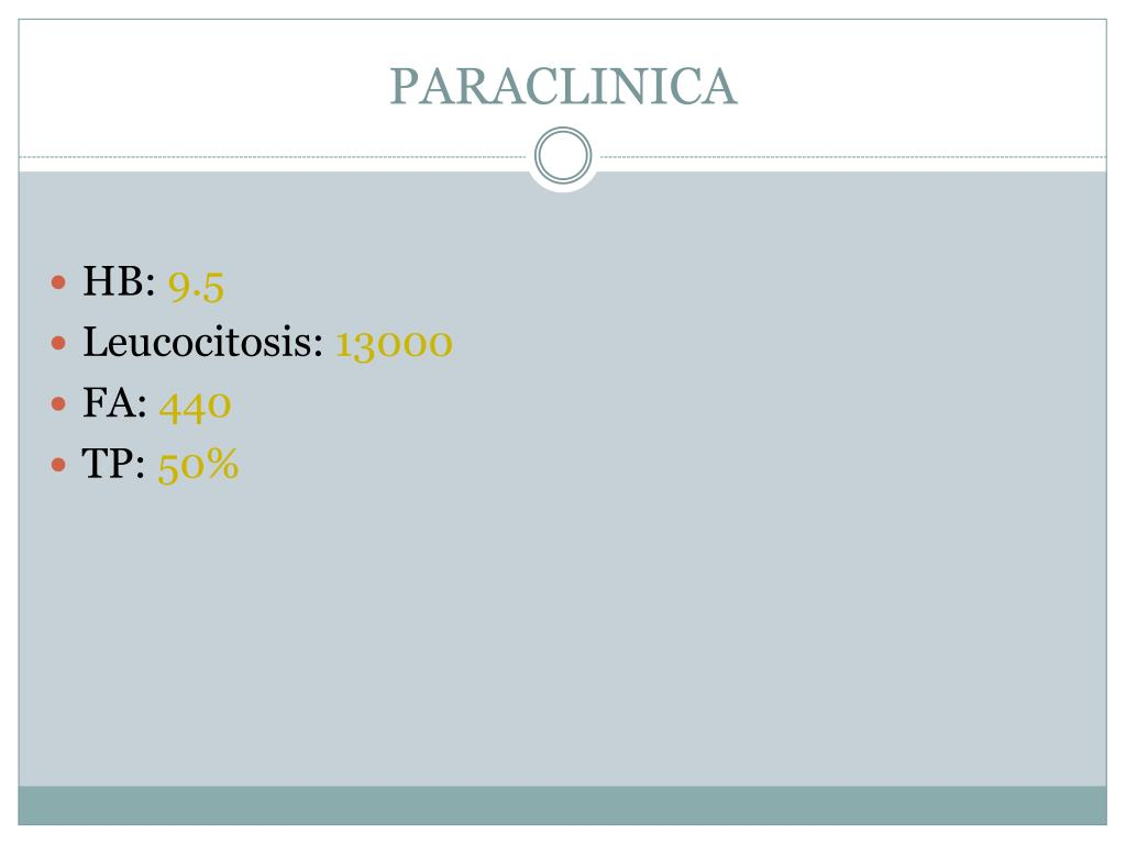 PARACLINICA