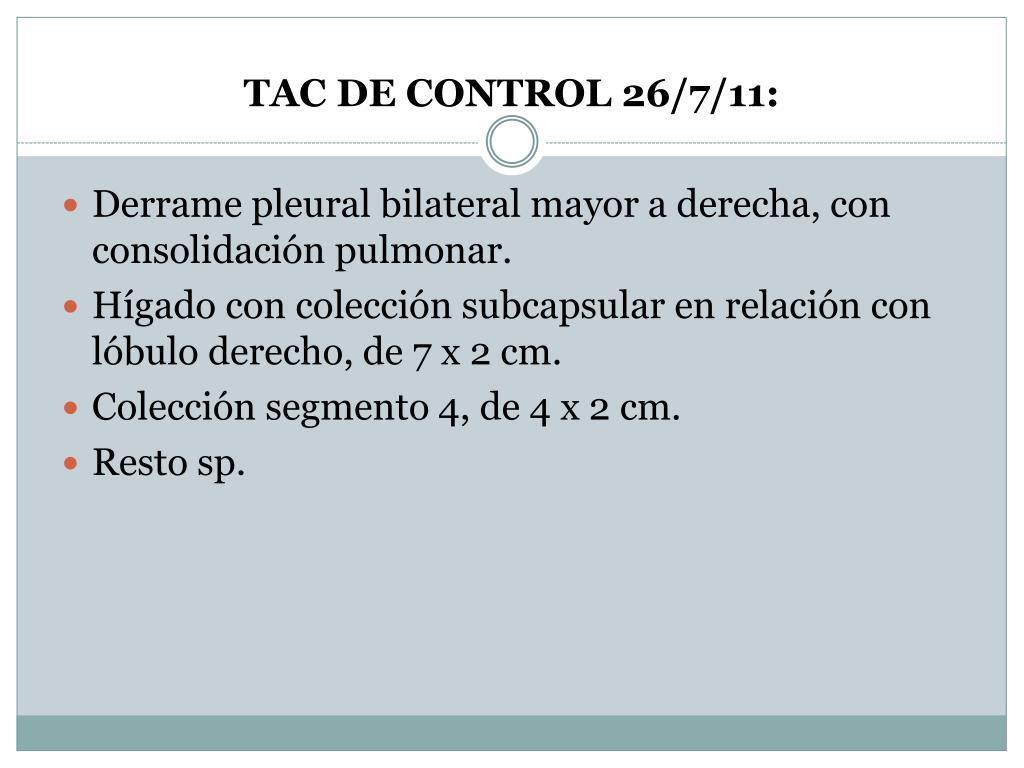 TAC DE CONTROL 26/7/11: