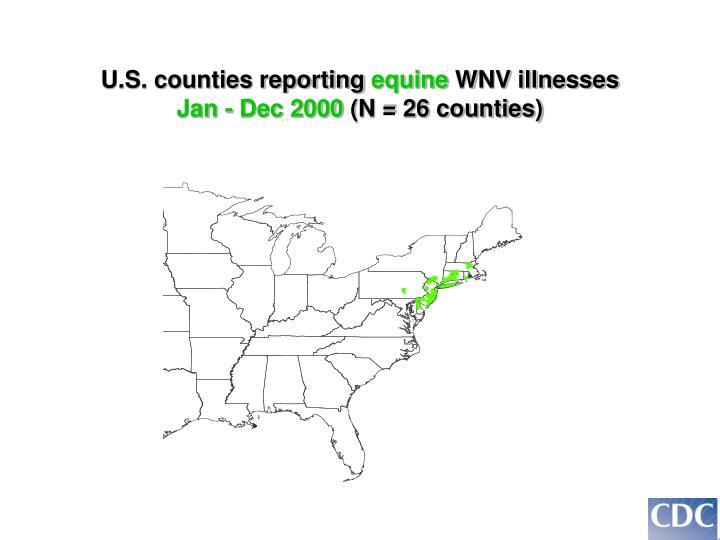 U.S. counties reporting