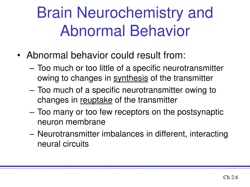 effects of abnormal behavior Psychology and systems: abnormal behavior and mental health morgan bley west chester university summary: abnormal psychology is the study of abnormal or atypical behavior in people there are many things group into the category of atypical behavior.