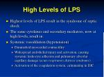 high levels of lps