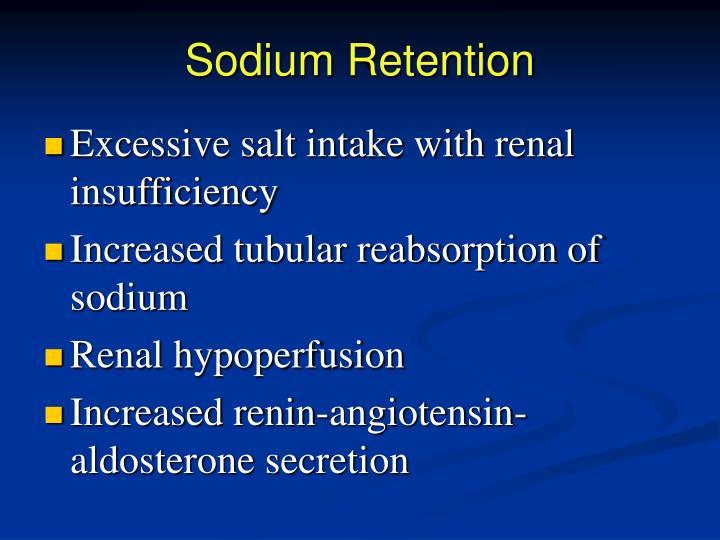 Sodium Retention