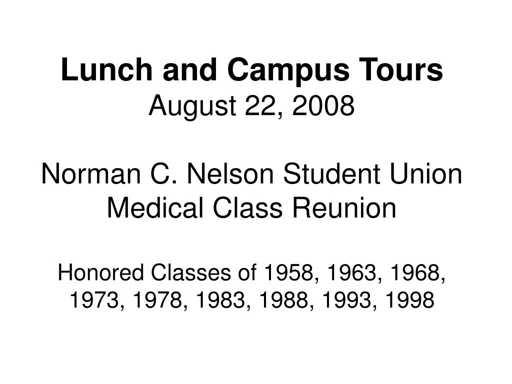 Lunch and Campus Tours