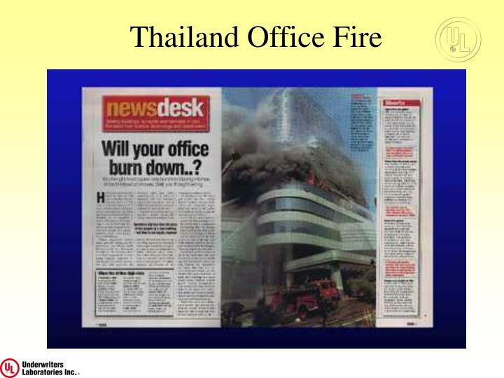 Thailand Office Fire